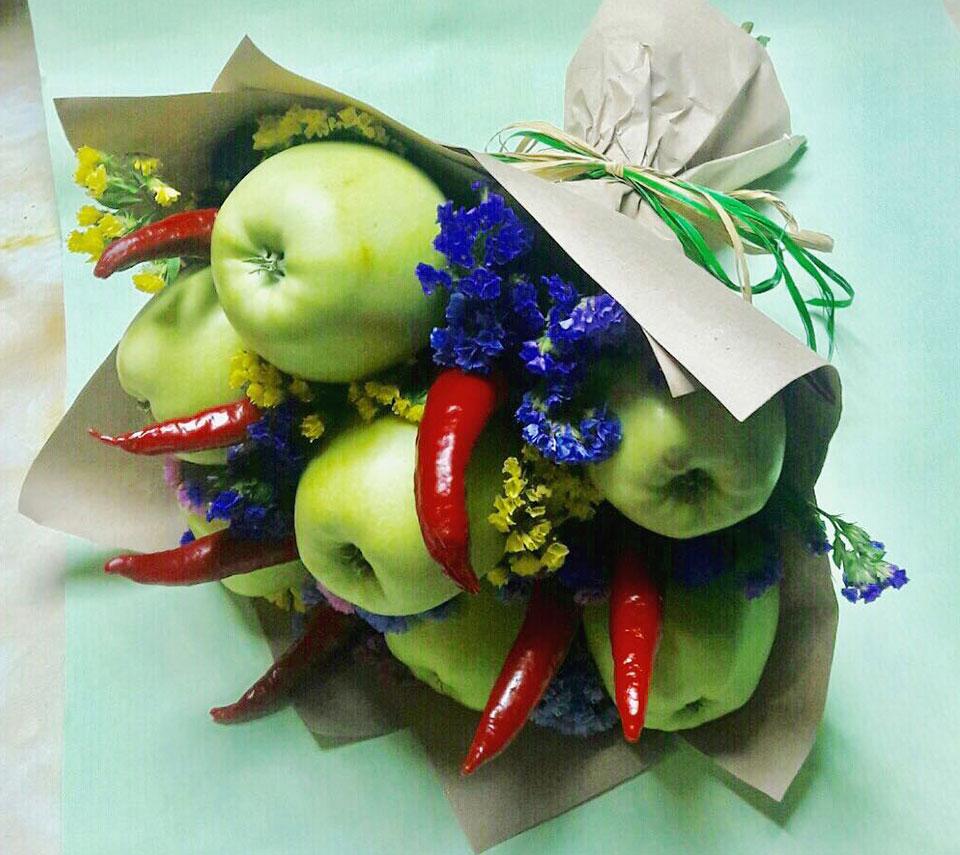 букет з яблук | flower-power.rv.ua