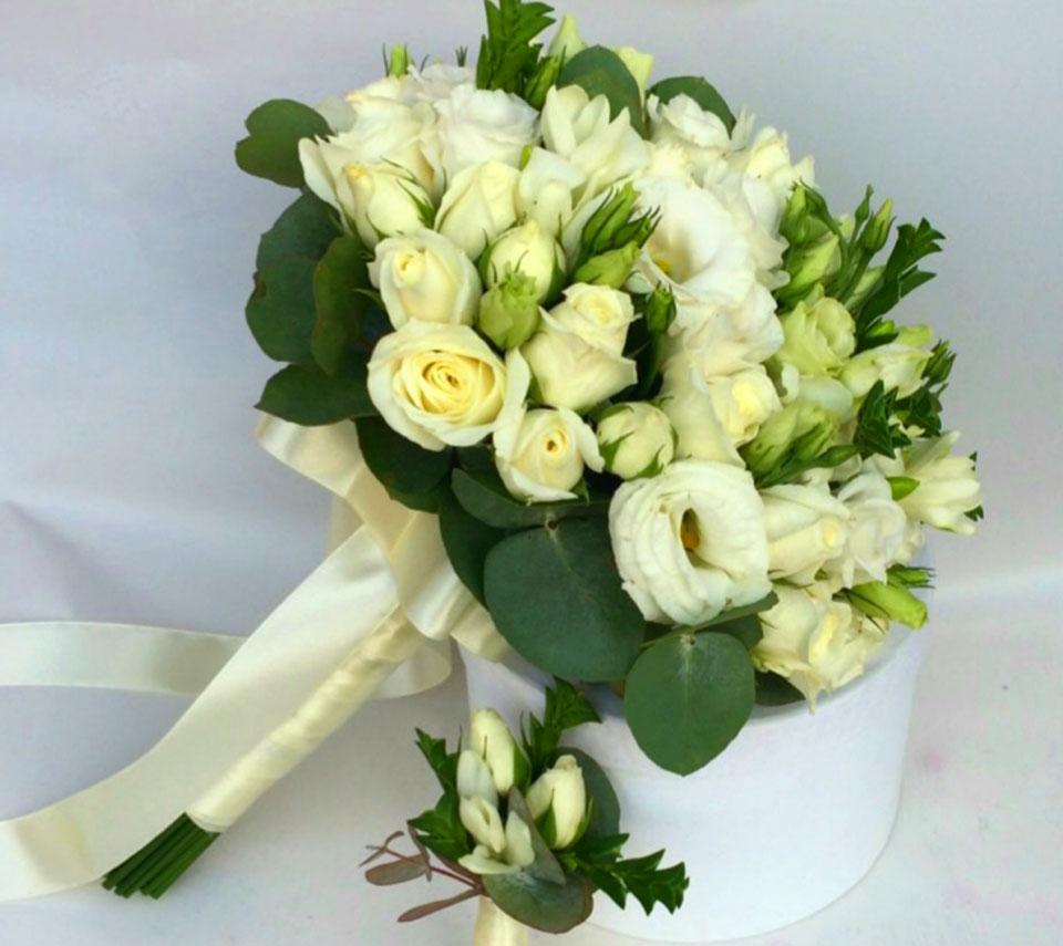 білий весільний букет | flower-power.rv.ua