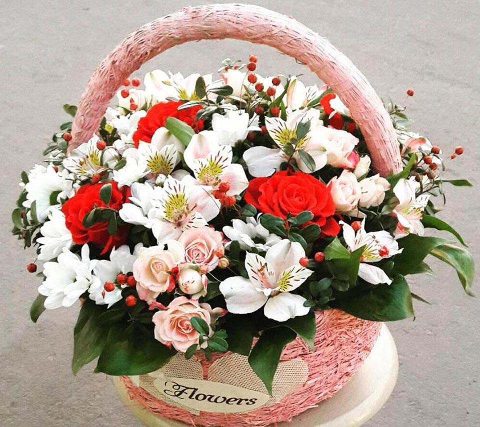 кошик квітів | flower-power.rv.ua