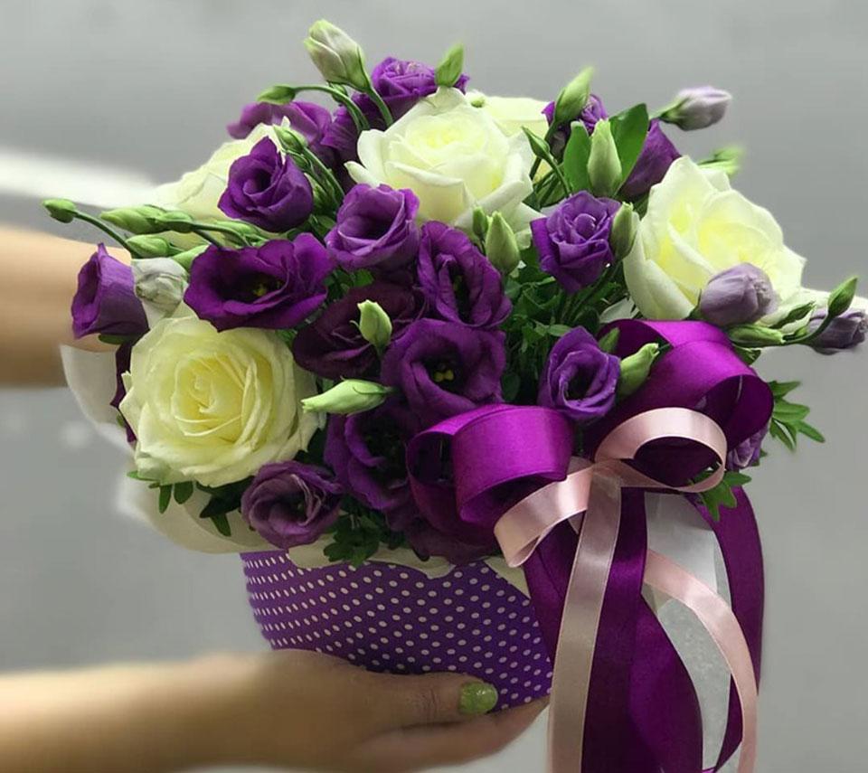 фіолетова еустома | flower-power.rv.ua