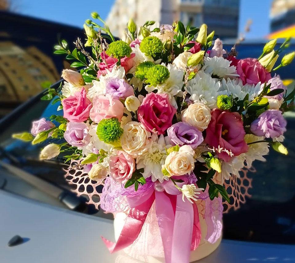 коробка з квітами на подарунок | flower-power.rv.ua