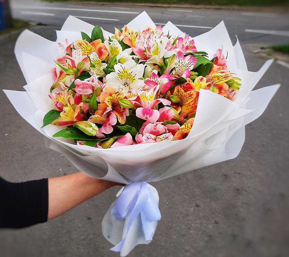 букет з альстромерій | flower-power.rv.ua