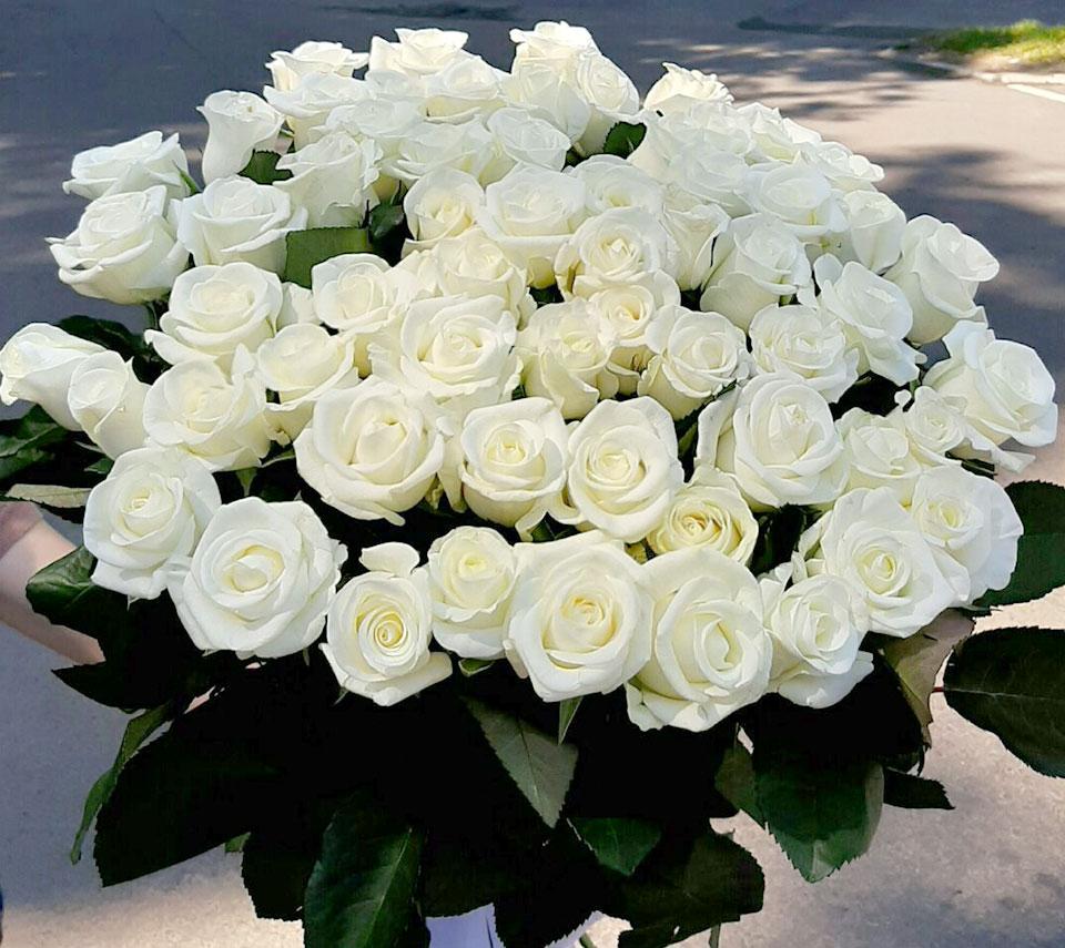 букет білих троянд | flower-power.rv.ua