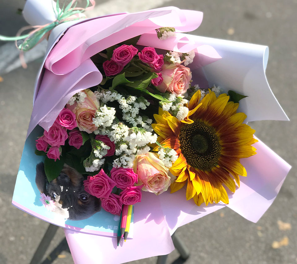 букет на перше вересня | flower-power.rv.ua