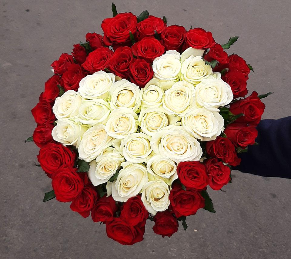 букет серцем | flower-power.rv.ua