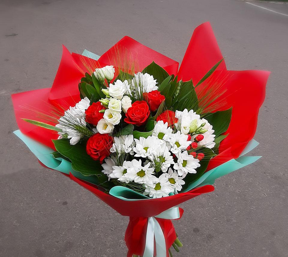 червоний букет | flower-power.rv.ua