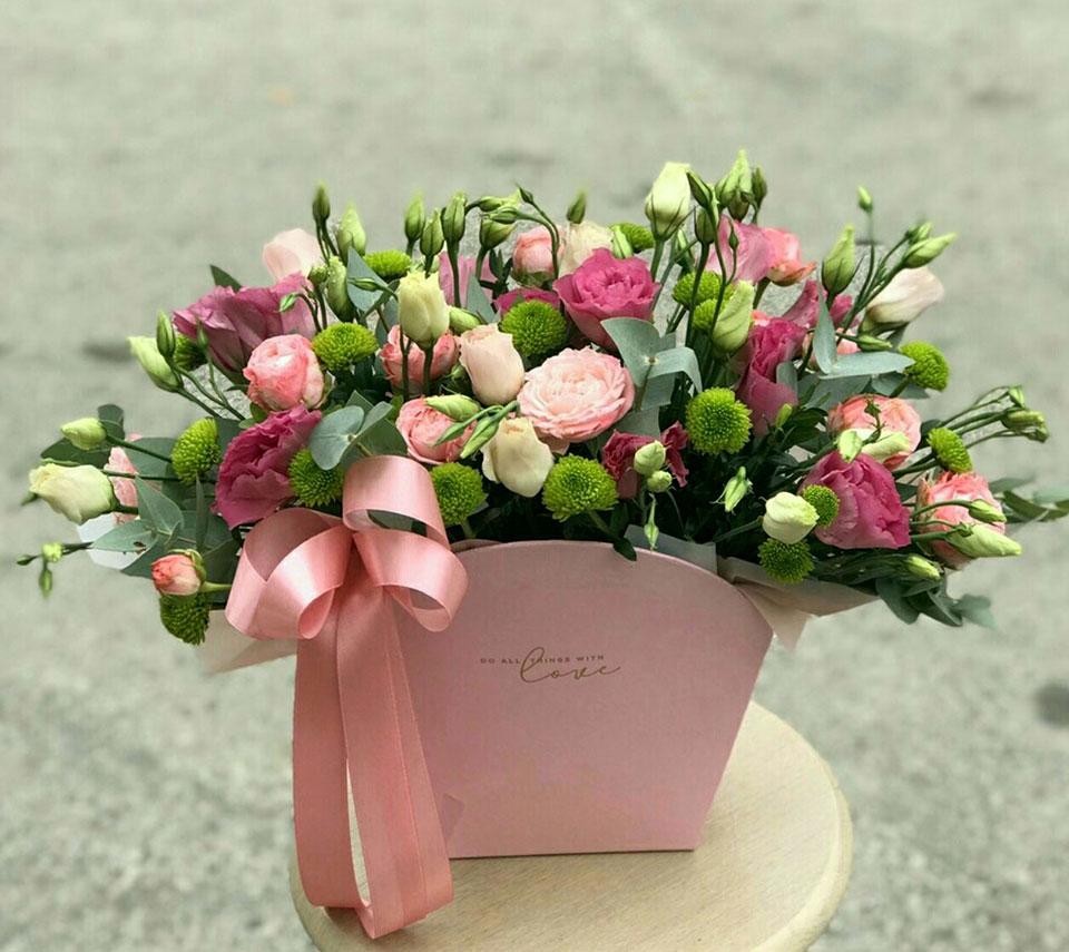 коробка з еустом | flower-power.rv.ua