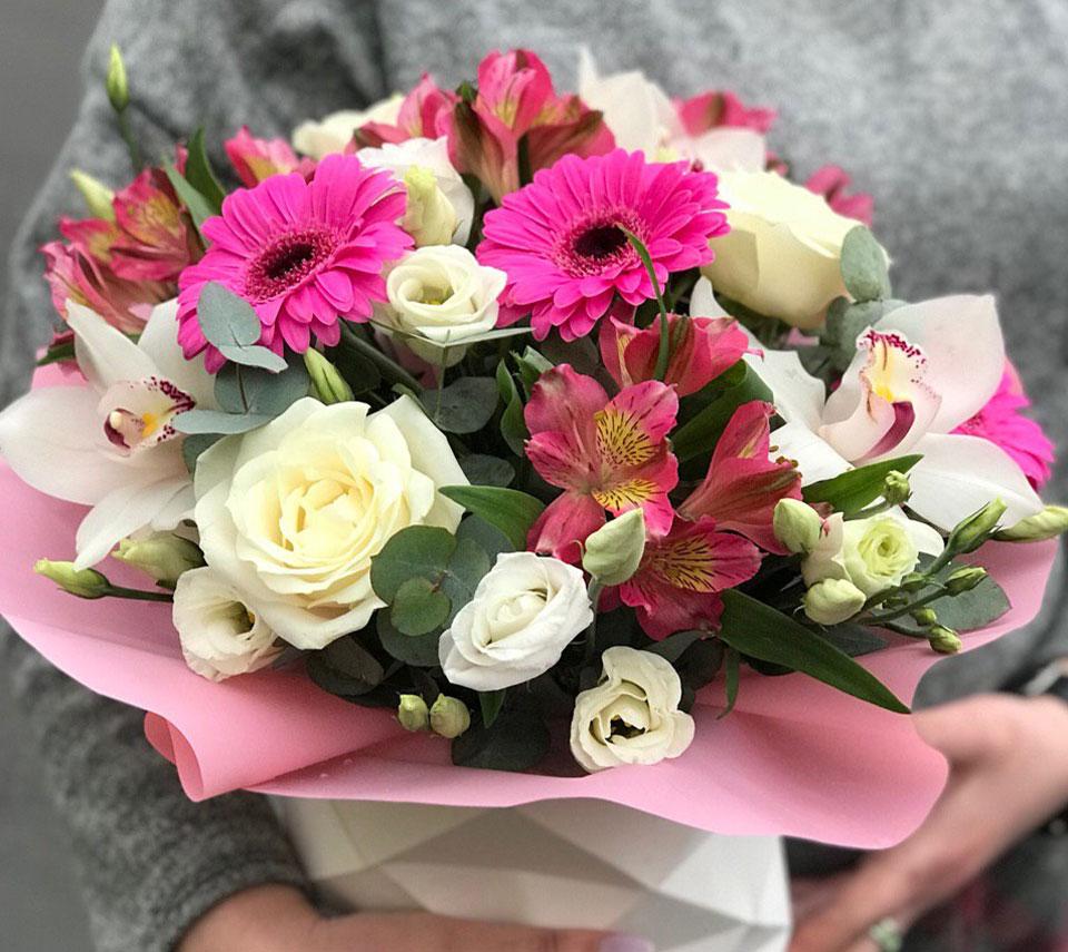 коробка з герберами | flower-power.rv.ua