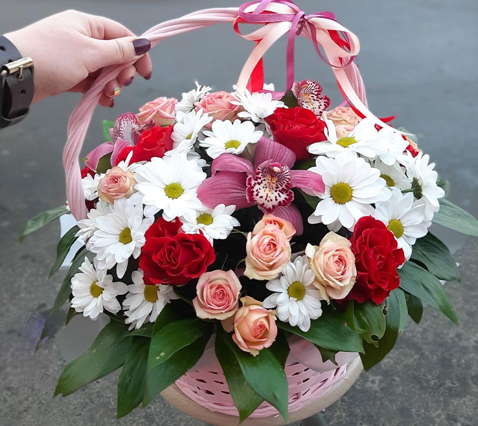 корзинка з квітами | flower-power.rv.ua