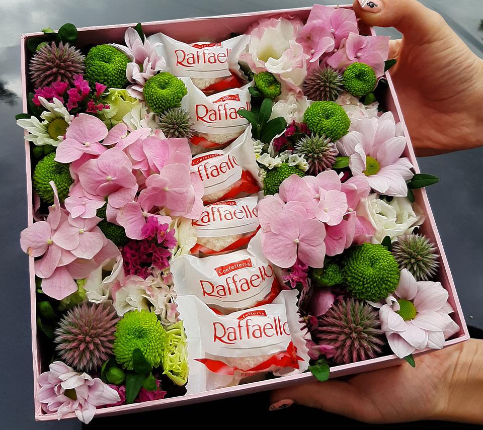 квіти та Raffaello | flower-power.rv.ua