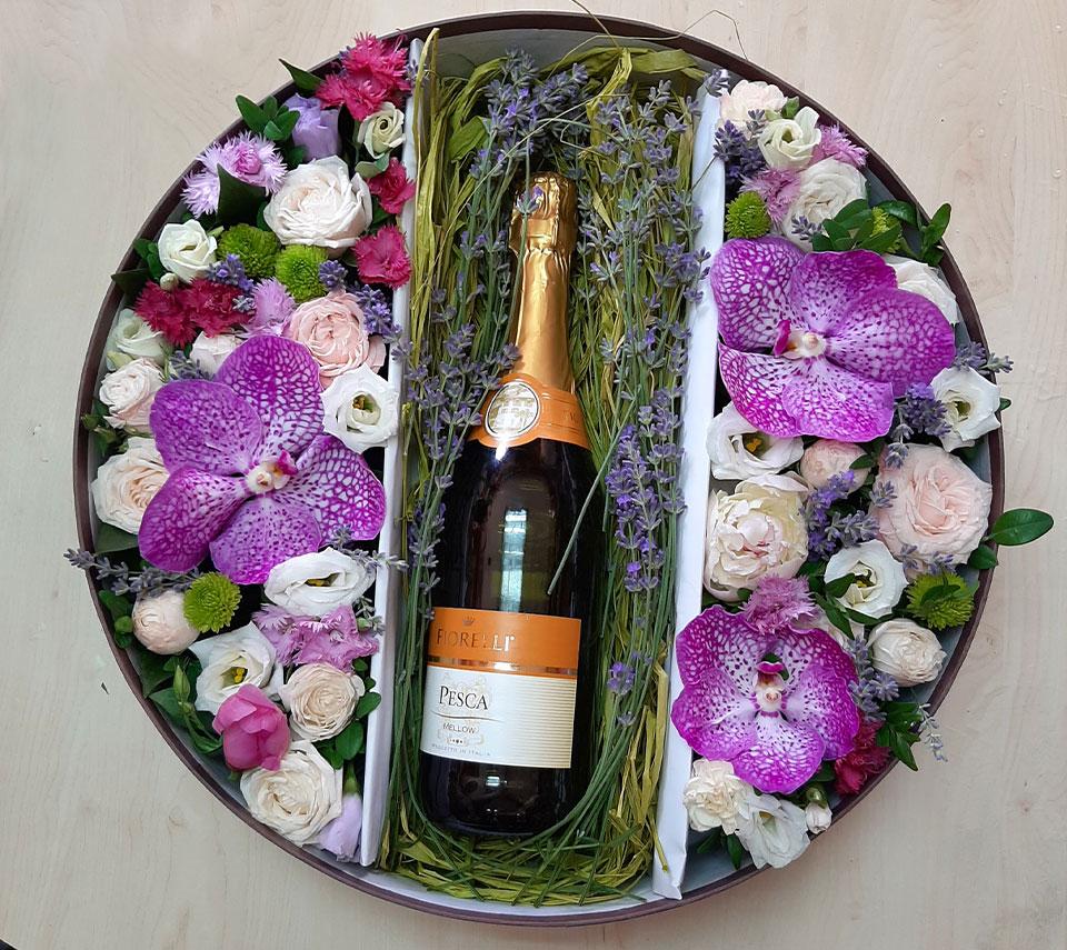 квіти з шампанським | flower-power.rv.ua