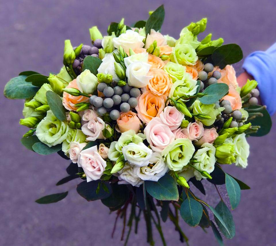 цікавий весільний букет | flower-power.rv.ua