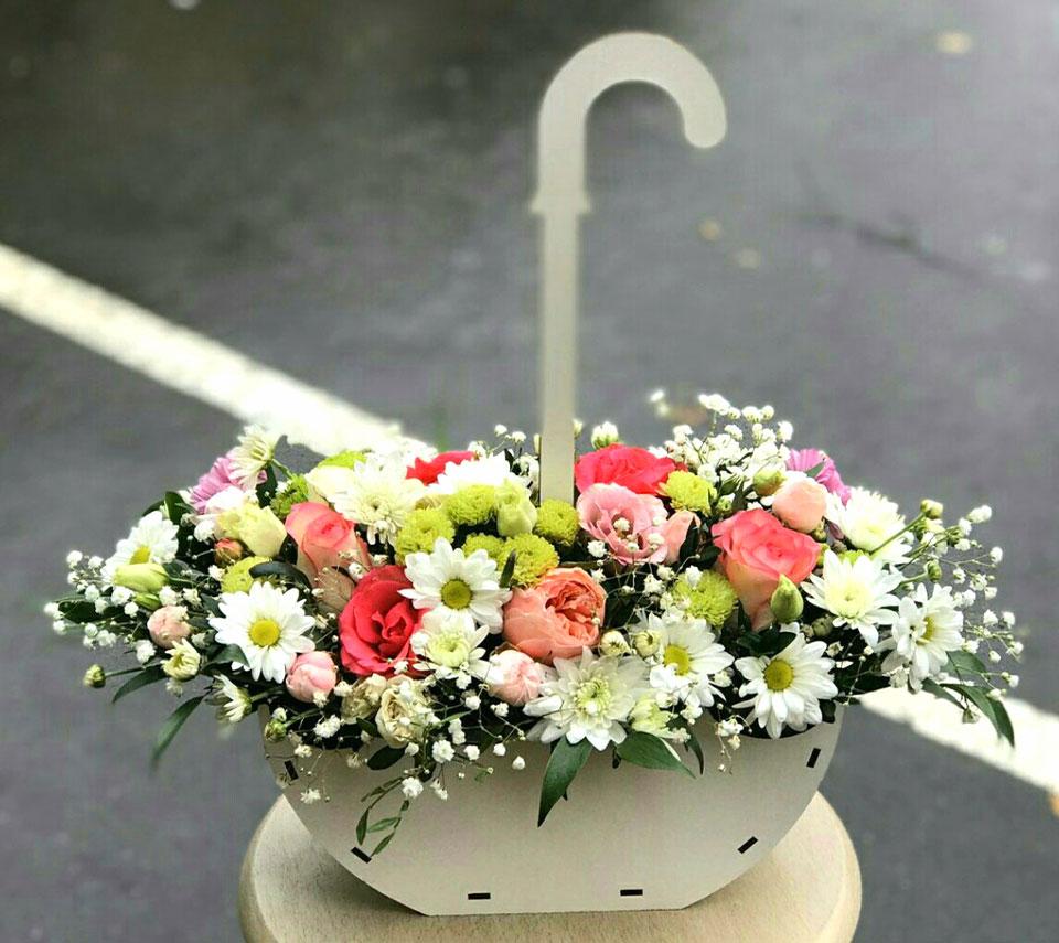 парасолька з квітами | flower-power.rv.ua