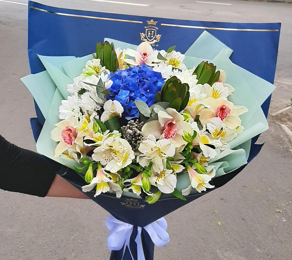 букет блакитний | flower-power.rv.ua