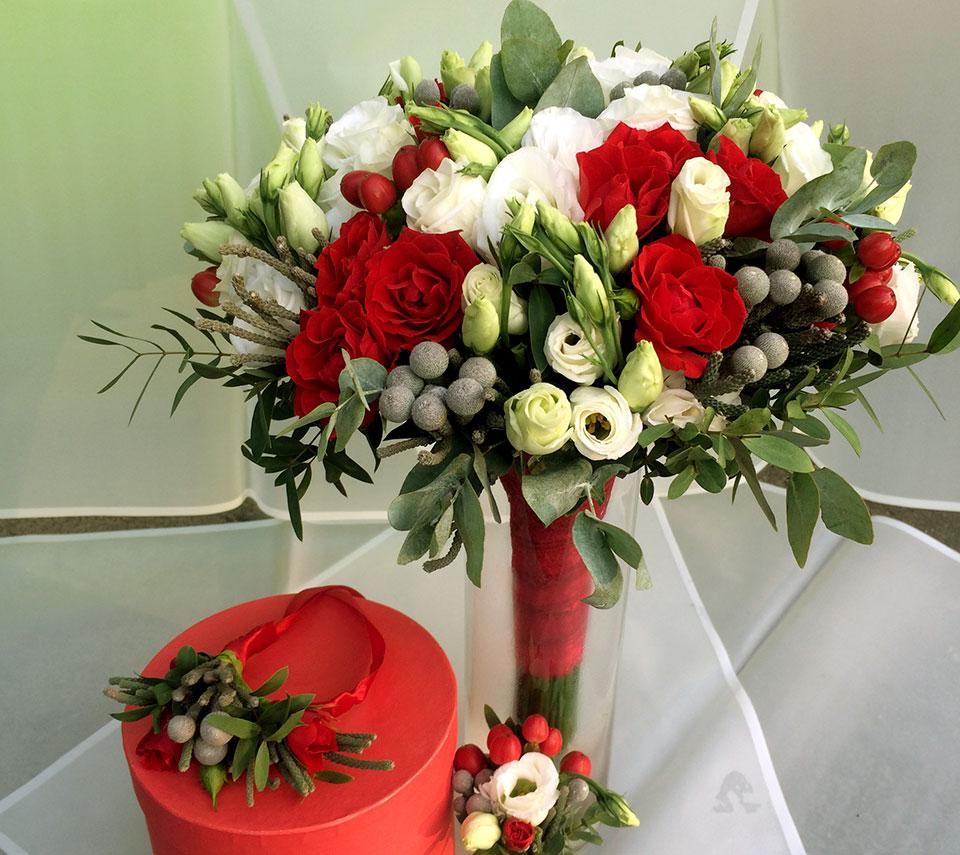 троянди весільний букет | flower-power.rv.ua