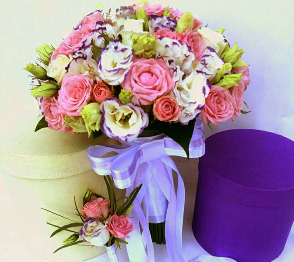 весільний букет фіолетовий | flower-power.rv.ua