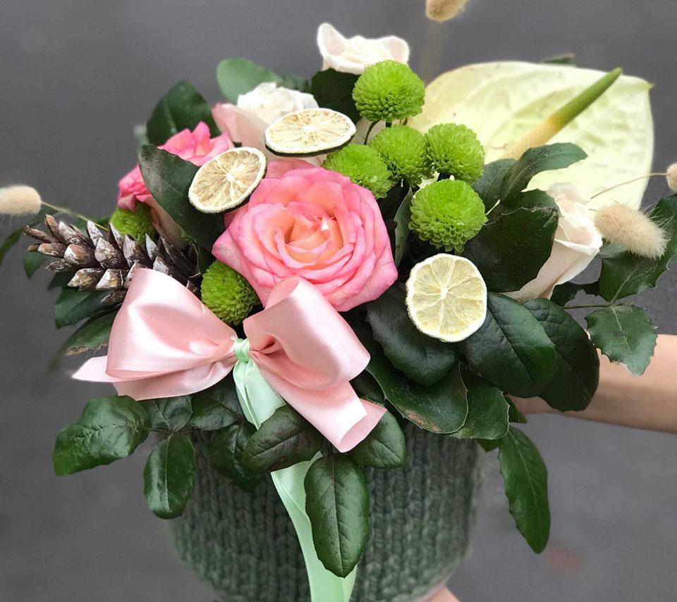 зимова коробка з квітами | flower-power.rv.ua
